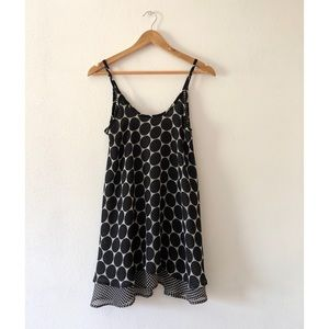 strappy printed cami dress